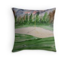Golf Course Throw Pillow