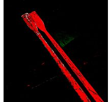 a pair of red oars Photographic Print