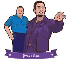 Lebowski's Jesus & Liam by Boy5ive