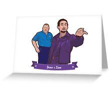 Lebowski's Jesus & Liam Greeting Card