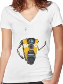 Claptrap Women's Fitted V-Neck T-Shirt