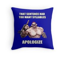 Mr.Torgue Quote Throw Pillow