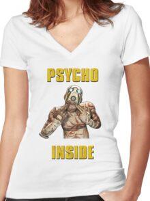 Psycho Inside Women's Fitted V-Neck T-Shirt