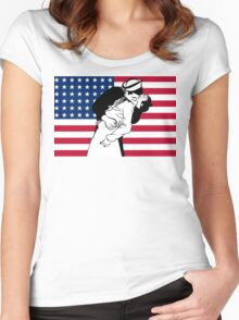 Newyork Kiss /  V-J day  Women's Fitted Scoop T-Shirt