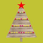 Wooden Christmas tree by Robert Elfferich