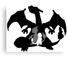 Charizard Evolution Canvas Print
