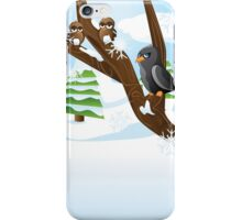 Birds on branch iPhone Case/Skin