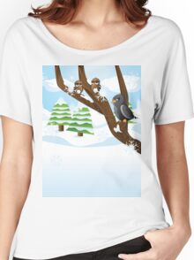 Birds on branch Women's Relaxed Fit T-Shirt