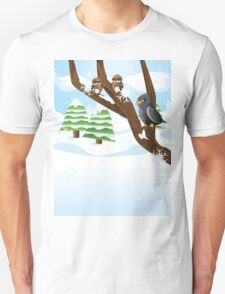 Birds on branch Unisex T-Shirt