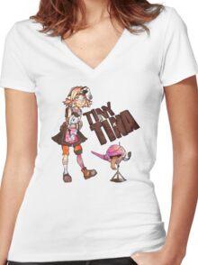 Tiny Tina Women's Fitted V-Neck T-Shirt