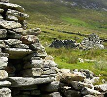 Famine House, Slievemore, Achill Island by Gwen Wordingham