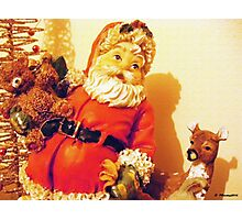 Santa and Friends Photographic Print