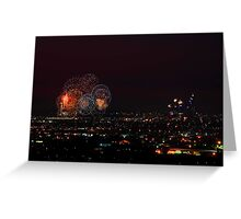 Australia Day Fireworks Over Perth Greeting Card