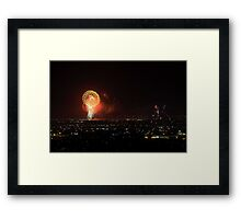 The Finale - Australia Day Fireworks 2008  Framed Print