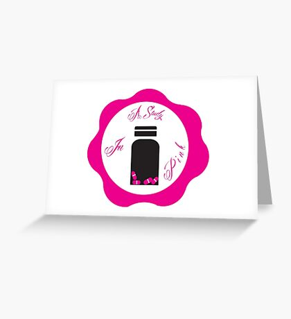 A Study in Pink 'Wax Seal' Greeting Card