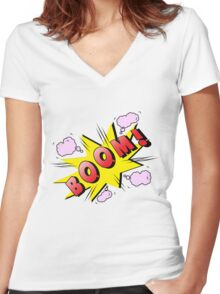bomb Women's Fitted V-Neck T-Shirt
