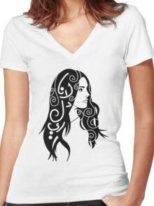 Lana Del Rey Women's Fitted V-Neck T-Shirt