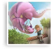 Girlie Dragon Canvas Print