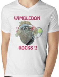 Wimbledon Rocks Mens V-Neck T-Shirt
