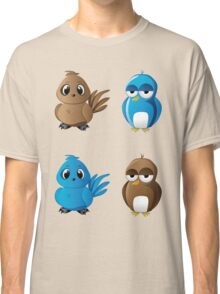 Brown and blue birds Classic T-Shirt