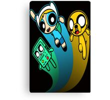 A mashup of Adventure Time and the Power Puff team Canvas Print
