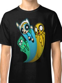 A mashup of Adventure Time and the Power Puff team Classic T-Shirt