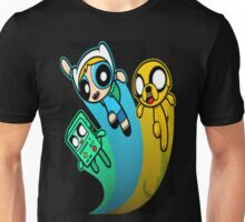 A mashup of Adventure Time and the Power Puff team Unisex T-Shirt