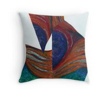 Transposition (Oil Pastels)- Throw Pillow