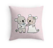 Koala Wedding Throw Pillow
