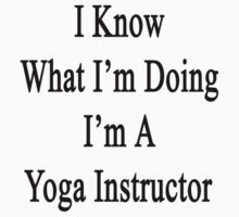 I Know What I'm Doing I'm A Yoga Instructor  by supernova23