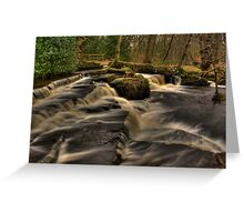 Across The Falls Greeting Card