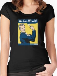 We Can Who It! Women's Fitted Scoop T-Shirt