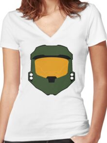 Master chief minimalist Women's Fitted V-Neck T-Shirt