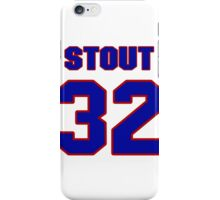 National football player Pete Stout jersey 32 iPhone Case/Skin