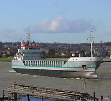 Freighter on the Medway by brummieboy