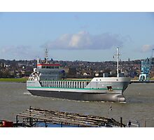 Freighter on the Medway Photographic Print