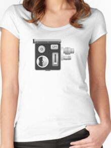 old cine camera Women's Fitted Scoop T-Shirt