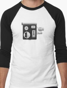 old cine camera Men's Baseball ¾ T-Shirt