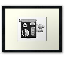 old cine camera Framed Print