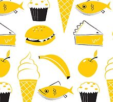 Retro Food Pattern by Ben Sanders