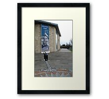 Discovery Point, Dundee, with penguin Framed Print