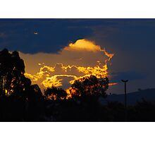 Urban sunset... Photographic Print