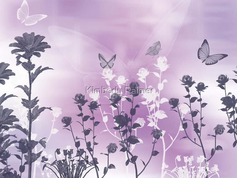 Butterflies in the Garden by Kimberly Palmer