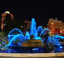 J. C. Nichols Fountain in Blue, Kansas City by Catherine Sherman