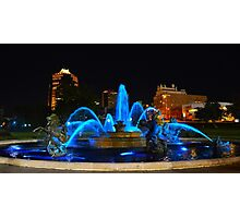 J. C. Nichols Fountain in Blue, Kansas City Photographic Print