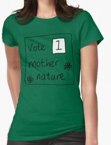 mother nature Womens Fitted T-Shirt
