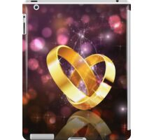 Romantic background with wedding rings 5 iPad Case/Skin