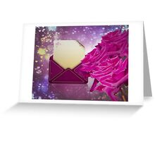 Roses and Letter Greeting Card