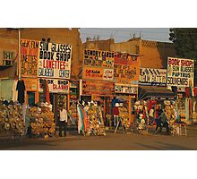 Egyptian Shops Photographic Print