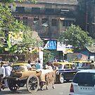 Busy street scene by Susan Moss